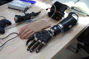 The Modular Prosthetic Limb was developed by the Johns Hopkins Applied Physics Laboratory Source