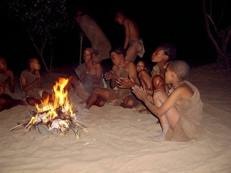 Namibian San bushmen during a nighttime dance. | Exploring Worldview