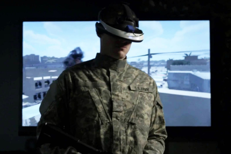 A former soldier is testing out Dr. Skip Rizzo's virtual reality system that will hopefully be used further for therapy for PTSD victims