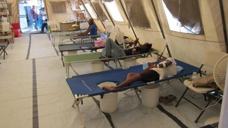 Scenes inside of a cholera treatment center in Haiti. Flickr Creative Commons image via CDC Global.